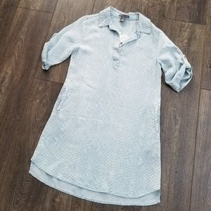 Chelsea & Theodore Blue Chambray Dress - Small